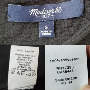 Madewell Tops - •MADEWELL • Tailored Tee In Black.